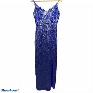 Niteline Mermaid Sequin Beaded Maxi Evening Gown